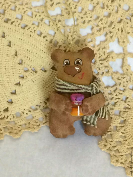 Игрушки животные, ручной работы. Ярмарка Мастеров - ручная работа. Купить Медвежонок. Handmade. Коричневый, мишка, бежево-коричневый, бязь