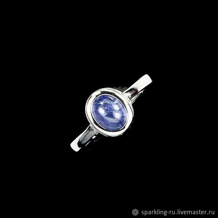 Silver ring with tanzanite, 17,25, Rings, Moscow,  Фото №1