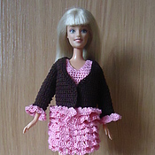 Куклы и игрушки ручной работы. Ярмарка Мастеров - ручная работа шоколадный комплект с розовыми оборками. Handmade.