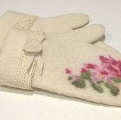 Аксессуары handmade. Livemaster - original item Felted mittens. Wool mittens.. Handmade.