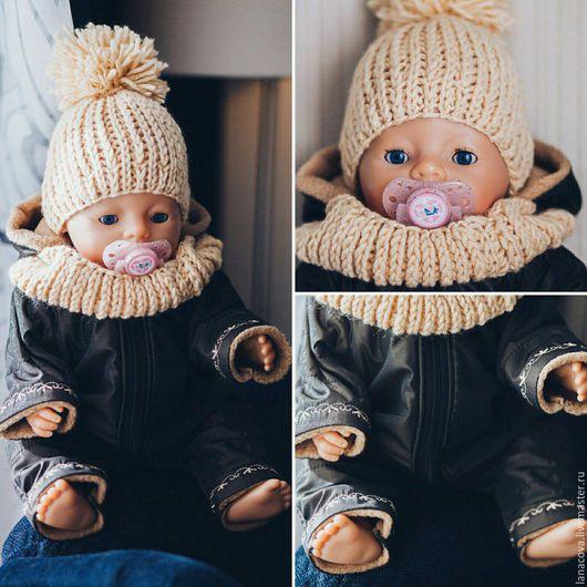 Одежда для кукол ручной работы. Ярмарка Мастеров - ручная работа. Купить Комбинезон для Baby Born. Handmade. Коричневый, одежда на заказ