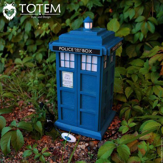 """Освещение ручной работы. Ярмарка Мастеров - ручная работа. Купить Светильник-ночник """"TARDIS"""" 45 см. Handmade. Тёмно-синий"""