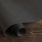 Кожа ручной работы. Ярмарка Мастеров - ручная работа Антрацит переплетный кожзаменитель матовый. Handmade.