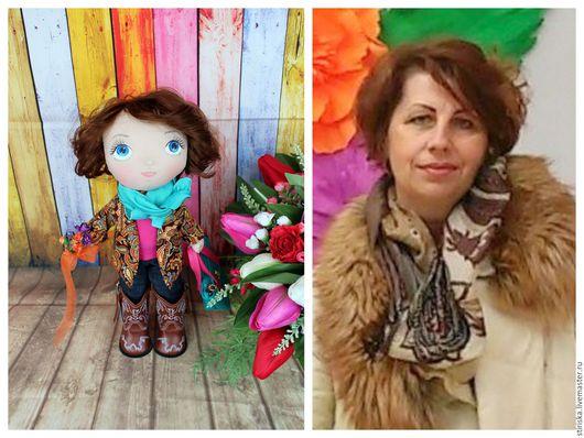 Портретные куклы ручной работы. Ярмарка Мастеров - ручная работа. Купить Портретная кукла в подарок. Handmade. Комбинированный, кукла в подарок