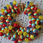 Украшения handmade. Livemaster - original item Bracelet of colored beads rainbow. Handmade.