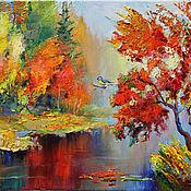 Картины ручной работы. Ярмарка Мастеров - ручная работа Красочная осень. Handmade.