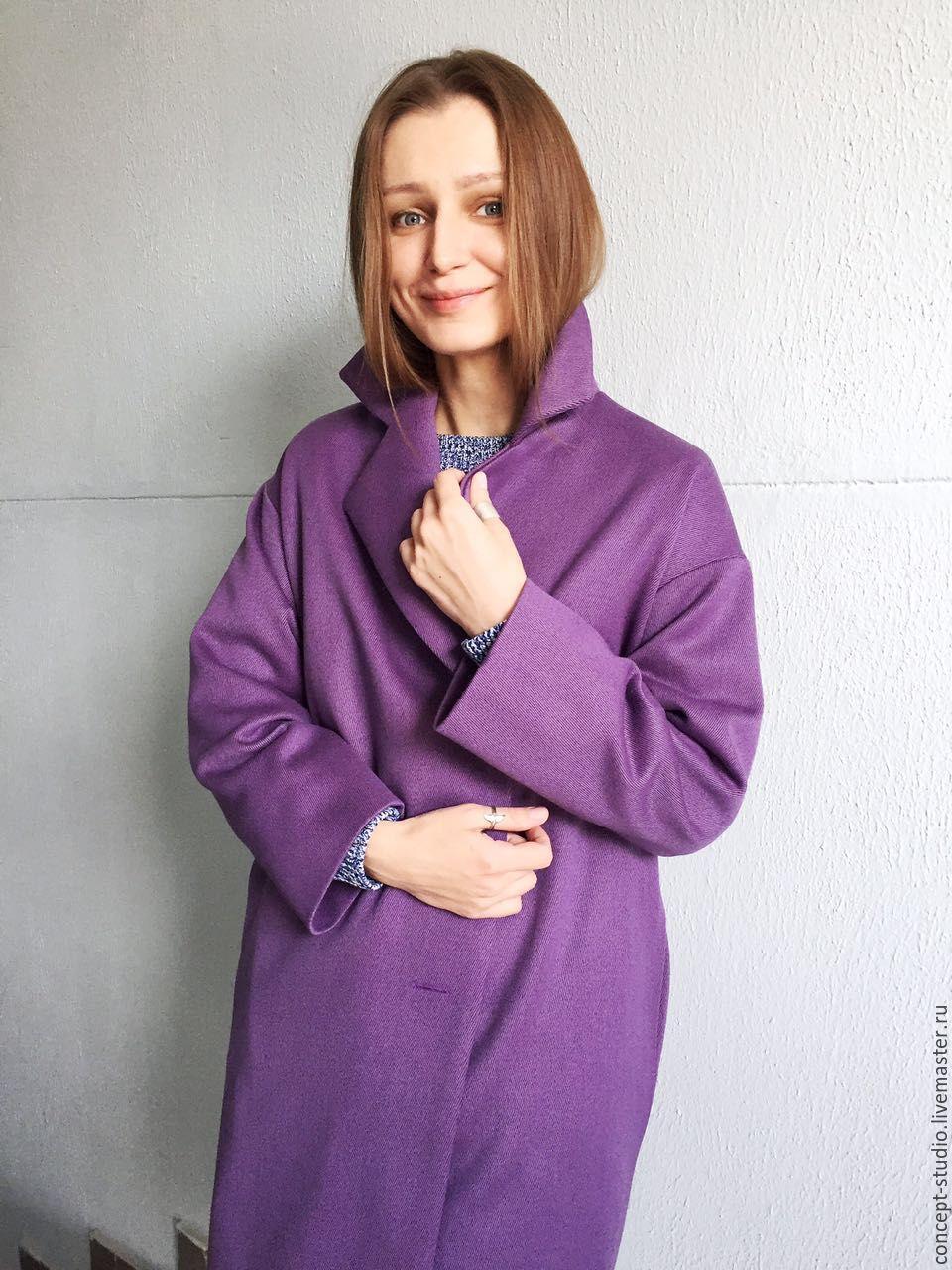 1445632856e Ярмарка Мастеров - ручная работа. Купить Демисезонное пальто фиолетовое. Верхняя  одежда ручной работы. Демисезонное пальто фиолетовое.