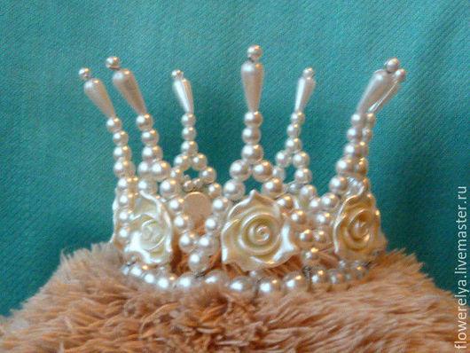 Диадемы, обручи ручной работы. Ярмарка Мастеров - ручная работа. Купить корона для принцессы. Handmade. Белый, корона для фотосессии