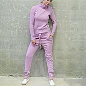 Одежда ручной работы. Ярмарка Мастеров - ручная работа Костюм вязаный женский Powder Pink. Handmade.