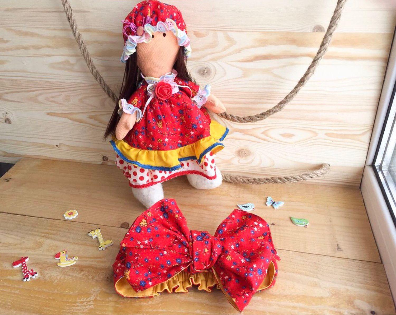Текстильная кукла и афробант для девочки, Куклы Тильда, Иваново,  Фото №1