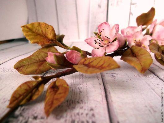 """Свадебные украшения ручной работы. Ярмарка Мастеров - ручная работа. Купить """"Моя весна. Вишня."""" Венок-ветка ручной работы. Продан. Handmade."""