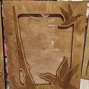 Фоторамки ручной работы. Ярмарка Мастеров - ручная работа Фоторамка охотнику, рыбаку, рамка на стену. Handmade.