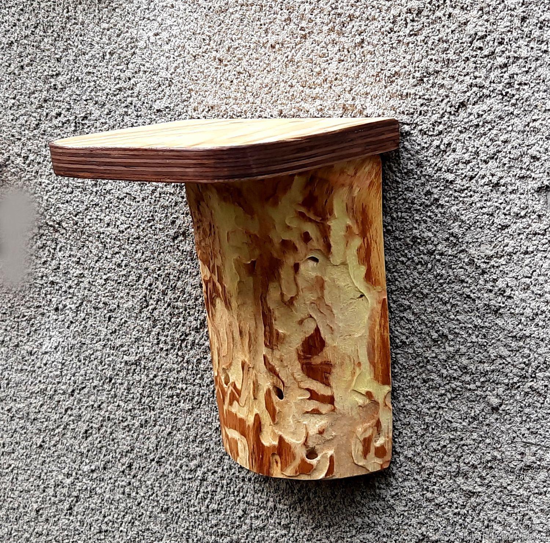 Wood wall shelf for flowers, Shelves, Chernomorskoe,  Фото №1