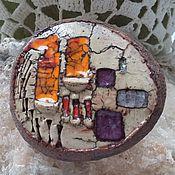 Украшения handmade. Livemaster - original item Ceramic brooch