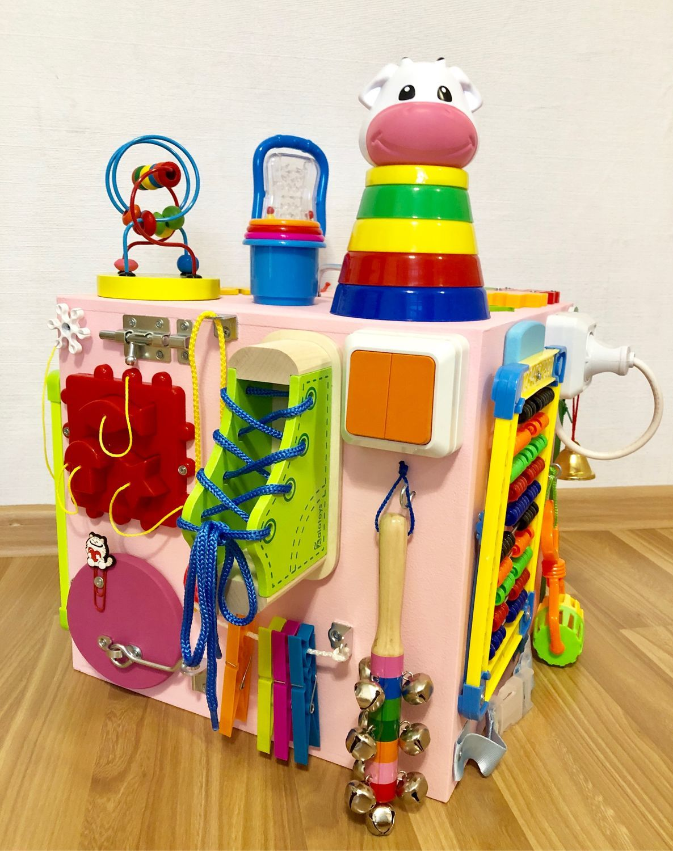 Бизиборд куб для девочки от 8 месяцев, Бизиборды, Сургут,  Фото №1