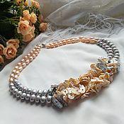 Украшения handmade. Livemaster - original item Flower necklace pearls925 silver. Handmade.