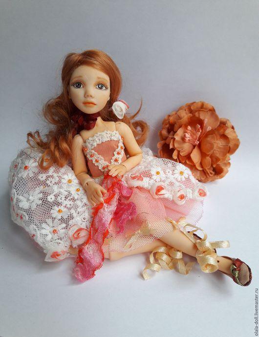 Коллекционные куклы ручной работы. Ярмарка Мастеров - ручная работа. Купить Шарнирная кукла Елена. Handmade. Рыжий, полимерная глина