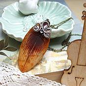 Украшения handmade. Livemaster - original item The tiger Lily pendant with Real Petal of the Lily Spring. Handmade.