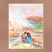 Картины и панно ручной работы. Ярмарка Мастеров - ручная работа Где-то на краю земли -- картина пастелью. Handmade.