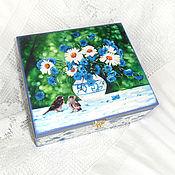Для дома и интерьера handmade. Livemaster - original item Box of yarn Summer bouquet. Handmade.