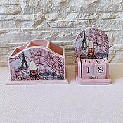 Канцелярские товары handmade. Livemaster - original item Perpetual calendar and pencil box Paris. Handmade.