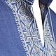 Льняная сорочка с ручной вышивкой Синий лен 2. Модная одежда с ручной вышивкой. Творческое ателье Modne-Narodne.