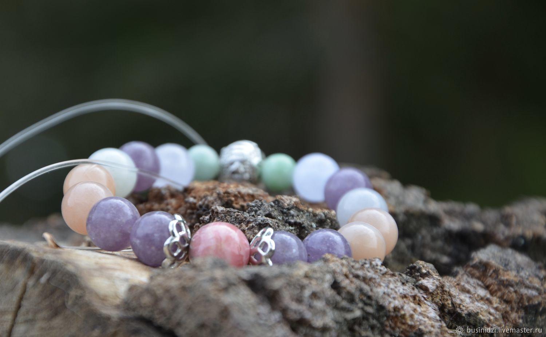 Bracelet with silver bead with mantra - Women's Happiness, Bead bracelet, Pereslavl-Zalesskij,  Фото №1