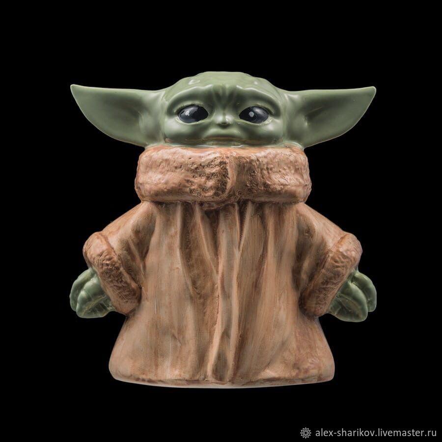Piggy Bank Baby YODA (ceramic) Baby Yoda from Star Wars, Custom, St. Petersburg,  Фото №1
