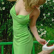 Одежда handmade. Livemaster - original item Silk cocktail dress