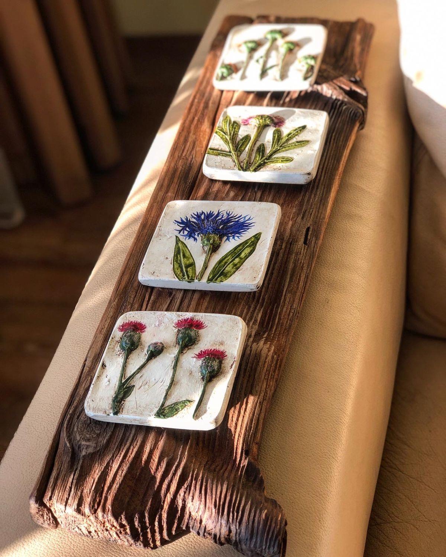 Лиственница и цветы, Панно, Иркутск,  Фото №1