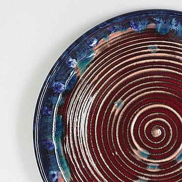 Посуда ручной работы. Ярмарка Мастеров - ручная работа Плоская тарелка Взрыв сверхновой. Handmade.