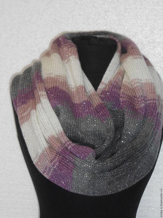 Шарфы и шарфики ручной работы. Шарф-снуд