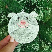 Подарки к праздникам handmade. Livemaster - original item Pig 2019 bulb on the Christmas tree. Handmade.