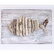 """Для дома и интерьера ручной работы. Ярмарка Мастеров - ручная работа Панно из морских коряг """"Рыба"""". Handmade."""
