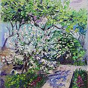 Картины и панно handmade. Livemaster - original item Oil painting. The may garden. Handmade.