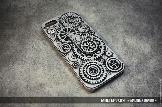 Для телефонов ручной работы. Ярмарка Мастеров - ручная работа. Купить Дизельпанк кейс для Iphone 5 и Iphone 5S. Handmade.