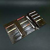 Сумки и аксессуары handmade. Livemaster - original item Threefold wallet made of Italian genuine leather. Trifold. Handmade.