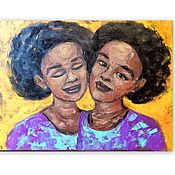 Картины и панно handmade. Livemaster - original item Oil painting of an African Woman 30 by 40 cm. Handmade.