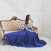 Одежда ручной работы. Ярмарка Мастеров - ручная работа Синяя юбка-макси. Handmade.