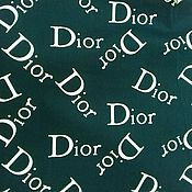 Ткани ручной работы. Ярмарка Мастеров - ручная работа Ткань хлопок  Dior на т.синем. Handmade.