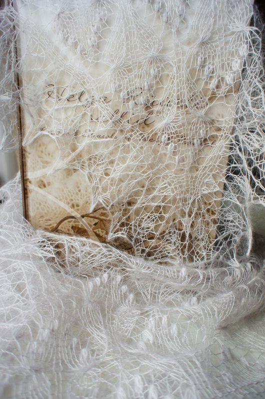 """Шали, палантины ручной работы. Ярмарка Мастеров - ручная работа. Купить Вязаная ажурная шаль """"Бабочки"""" из мохера с шёлком. Эстонское кружево. Handmade."""