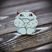 Украшения handmade. Livemaster - original item Wooden icon Fat Yeti. Handmade.