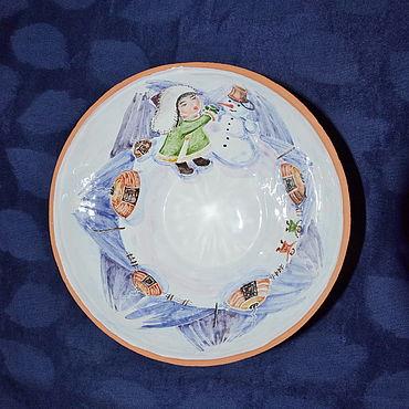"""Посуда ручной работы. Ярмарка Мастеров - ручная работа Миска глубокая """"Сагаалган"""". Handmade."""