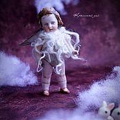 Куклы и игрушки ручной работы. Ярмарка Мастеров - ручная работа Куколка из антикварных деталей Воробушек. Handmade.
