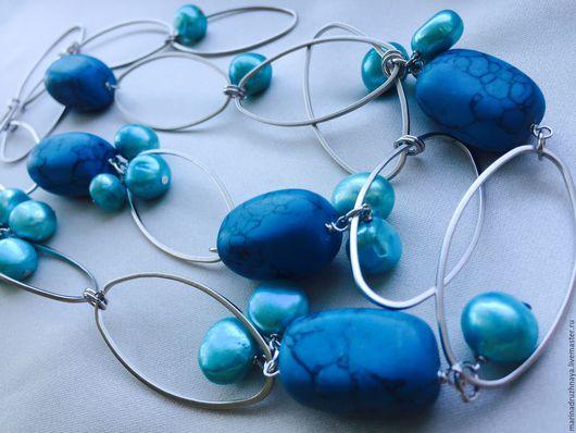 """Колье, бусы ручной работы. Ярмарка Мастеров - ручная работа. Купить """"Deep Sea"""" Колье. Handmade. Синий, на море"""