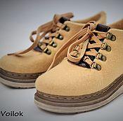 """Обувь ручной работы. Ярмарка Мастеров - ручная работа Ботинки валяные женские """"Old School-2"""". Handmade."""