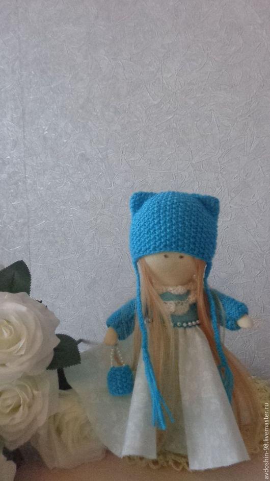 Коллекционные куклы ручной работы. Ярмарка Мастеров - ручная работа. Купить куколка Яна. Handmade. Бирюзовый, кукла снежка