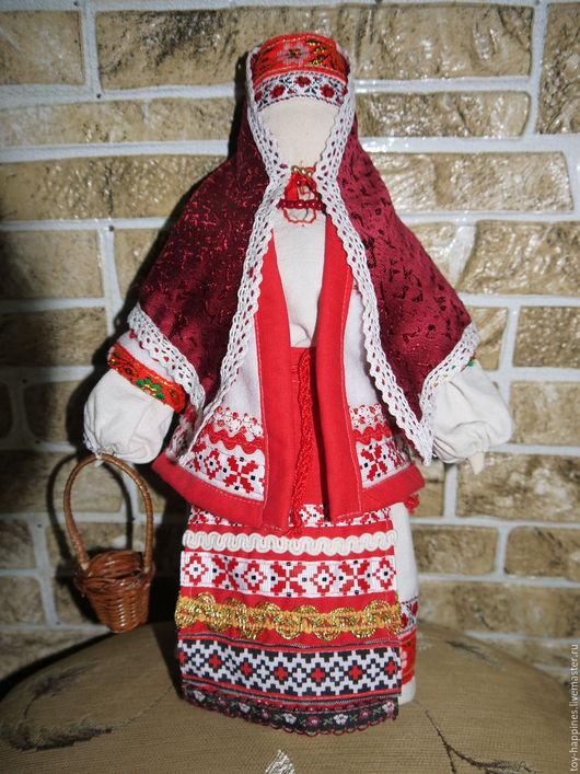 Народные куклы ручной работы. Ярмарка Мастеров - ручная работа. Купить кукла в русской народной одежде. Handmade. Ярко-красный