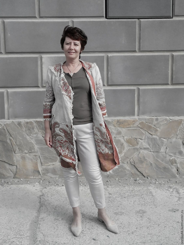 Cloak linen 'Curry', Raincoats and Trench Coats, Stupino,  Фото №1