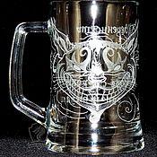 Посуда handmade. Livemaster - original item Cheshire Cat. Beer mug.. Handmade.
